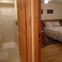 Wall Dividing Summer Solstice Room from Bathroom